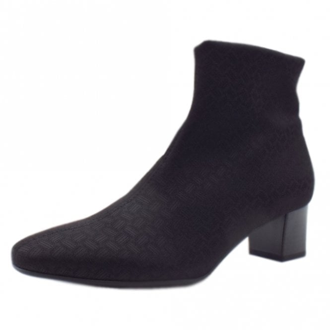 Osara Ladies Heeled Ankle Boot in Black Super