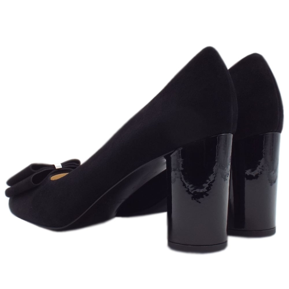 ebb1caaf55df ... Osilia Trendy Rounded Block Heel Court Shoes in Black. ‹