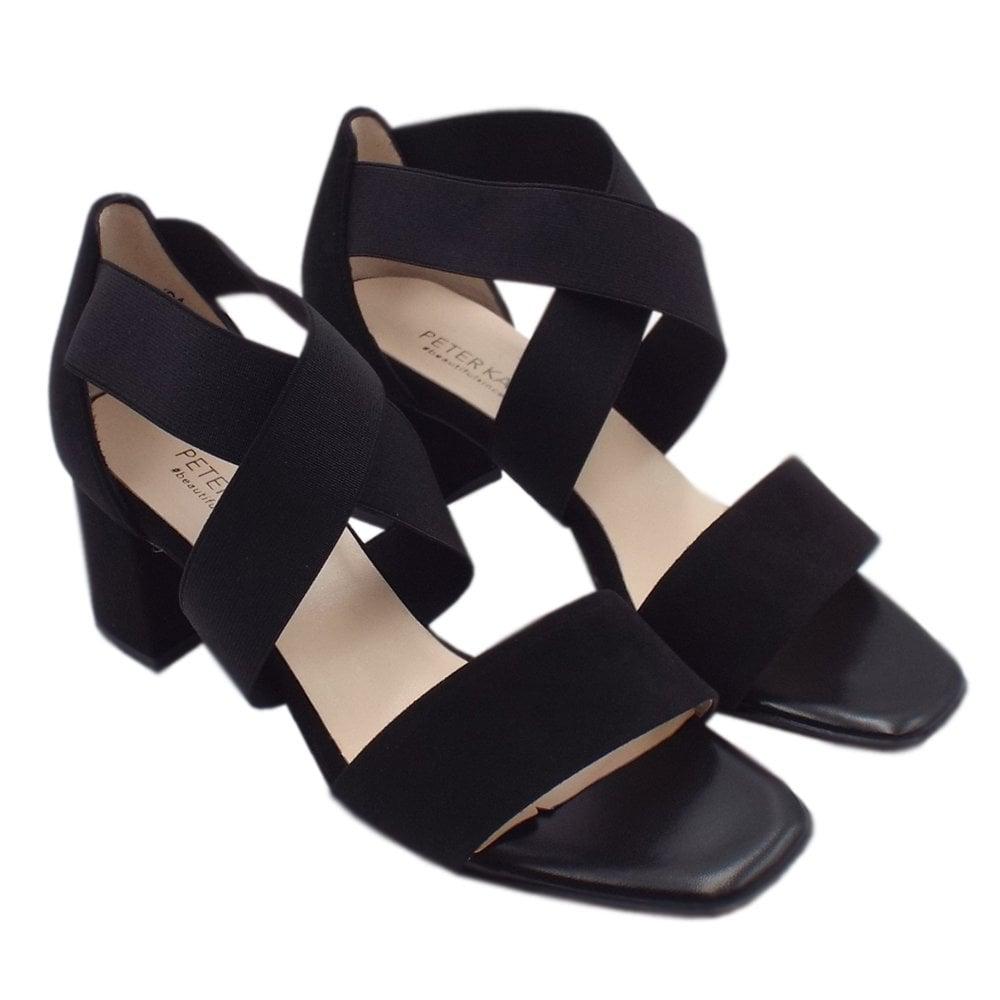Black Suede Peter Evening Sandals UkPaige Kaiser Ladies cTlF1KJ