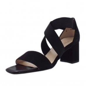 Paige Dressy Cross Over Straps in Black Suede
