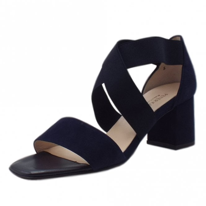 Paige Dressy Cross Over Straps in Notte Suede