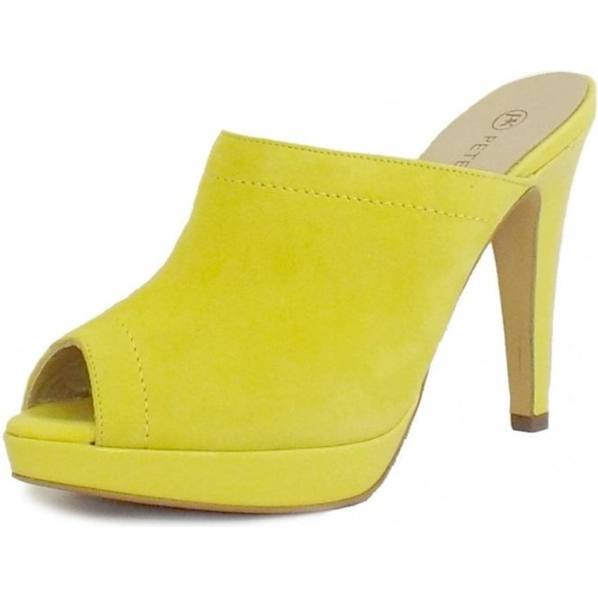 Palia Slip On Mule in Lemon Suede