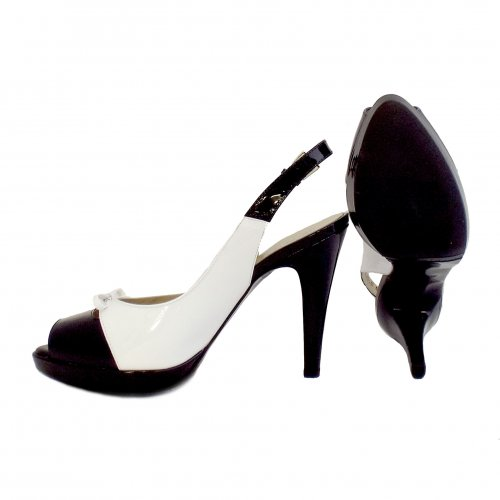 ca0a1279e62 ... Palmona Slingback Shoes in Black and White ...