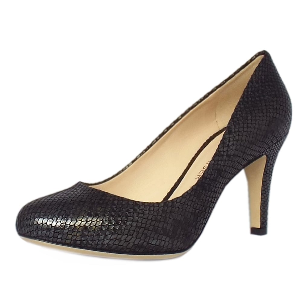 peter kaiser uk pascale black snake leather ladies stiletto pumps. Black Bedroom Furniture Sets. Home Design Ideas