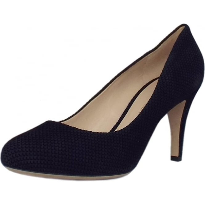 Pascale Court Shoe in Notte Moon Suede