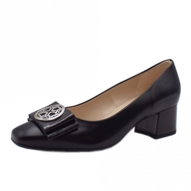 Patty Mid Heel Plus Fit Court Shoes in Black