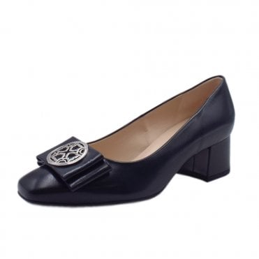 Patty Mid Heel Plus Fit Court Shoes in Navy