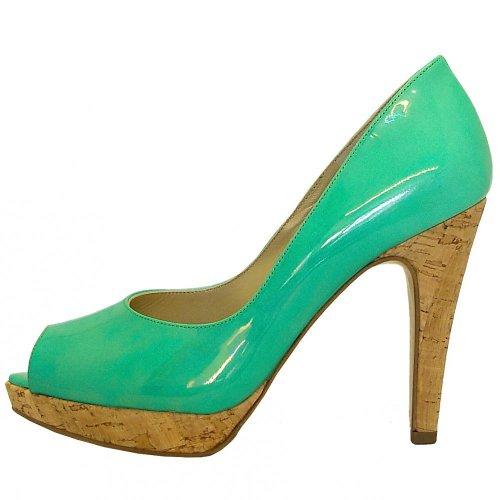 Peter Kaiser Patu | Pearlescent emerald green patent peep