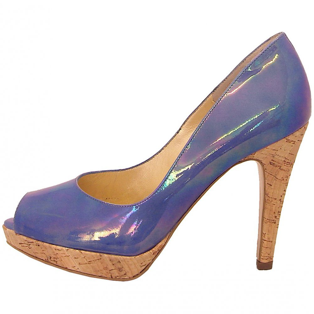 Peter Kaiser Patu high heel evening shoes in turquoise