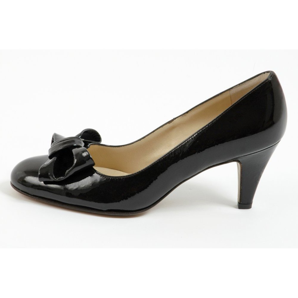Dark Brown Patent Leather Court Shoes