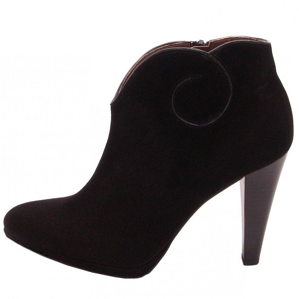 Peter Kaiser Piper | High heel ankel boots in black suede | Peter ...