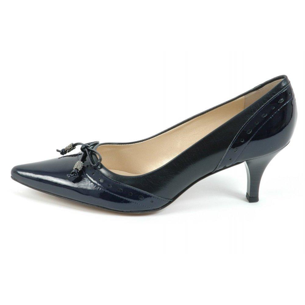 peter kaiser ploen kitten heel pumps in navy peter kaiser uk. Black Bedroom Furniture Sets. Home Design Ideas