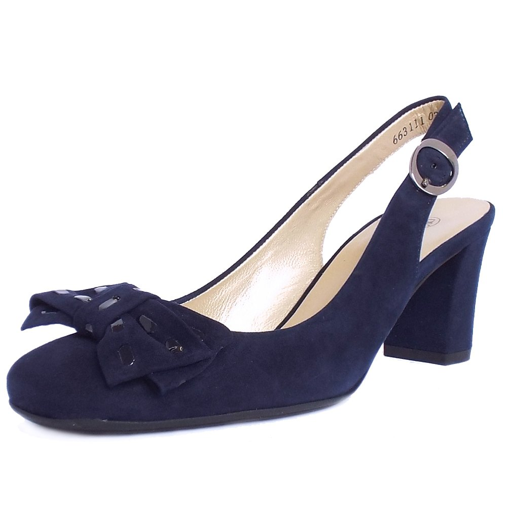 Ladies Navy Slingback Shoes