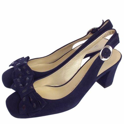 ec2fa95504f4 ... Presto Slingback Shoes in Navy Suede ...
