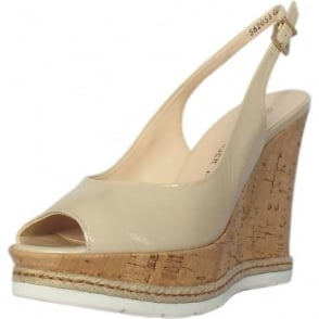 Regine Summer High Wedge Platform Sandals in Lana Crackle