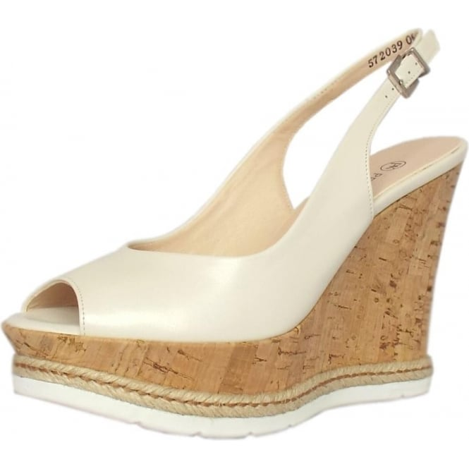 Regine Summer High Wedge Platform Sandals in White