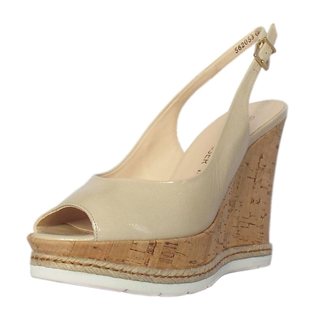 Cream Slingback Wedding Shoes