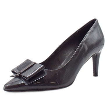 Rexa Dressy Pointed Toe Court Shoes in Carbon Mura