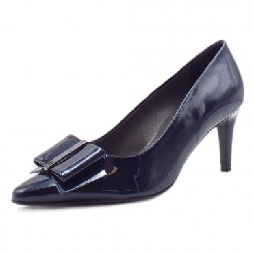Rexa Notte Mura Pointed Toe Patent Leather Pumps