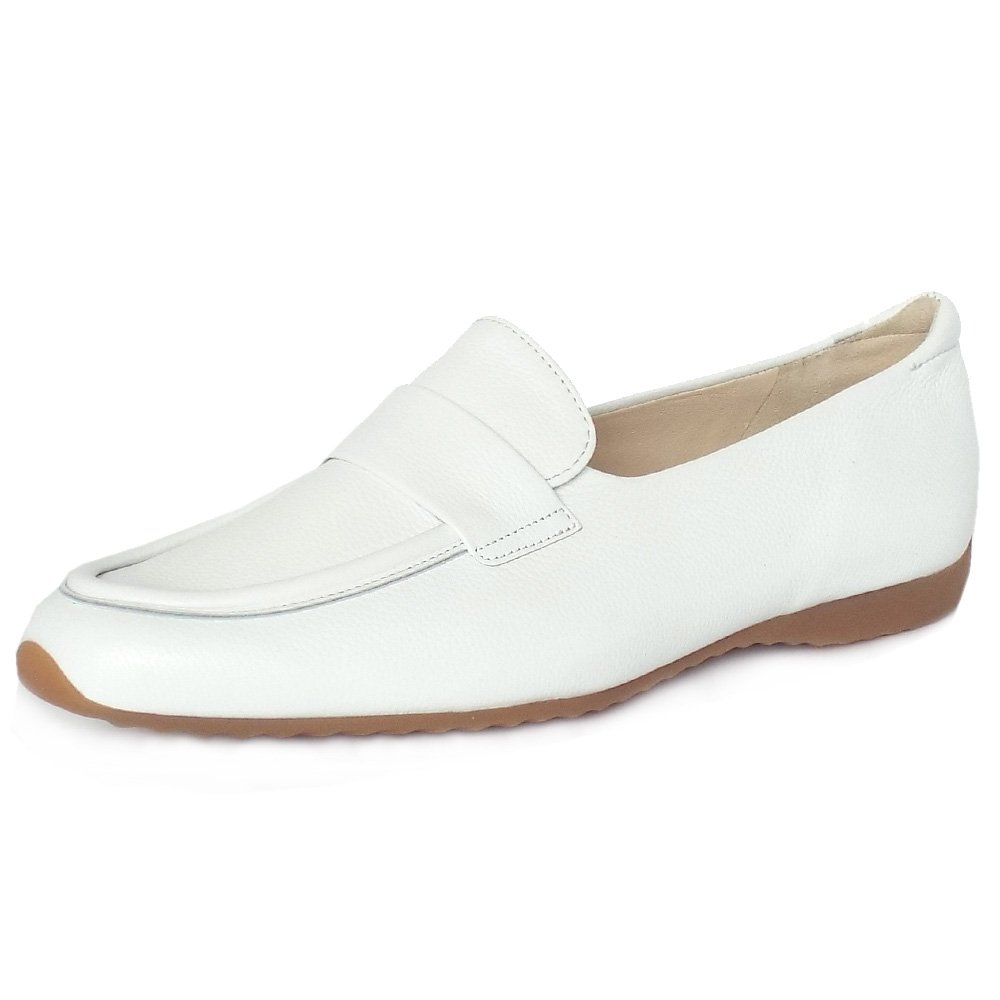 Rienzi White Angles Leather Loafers