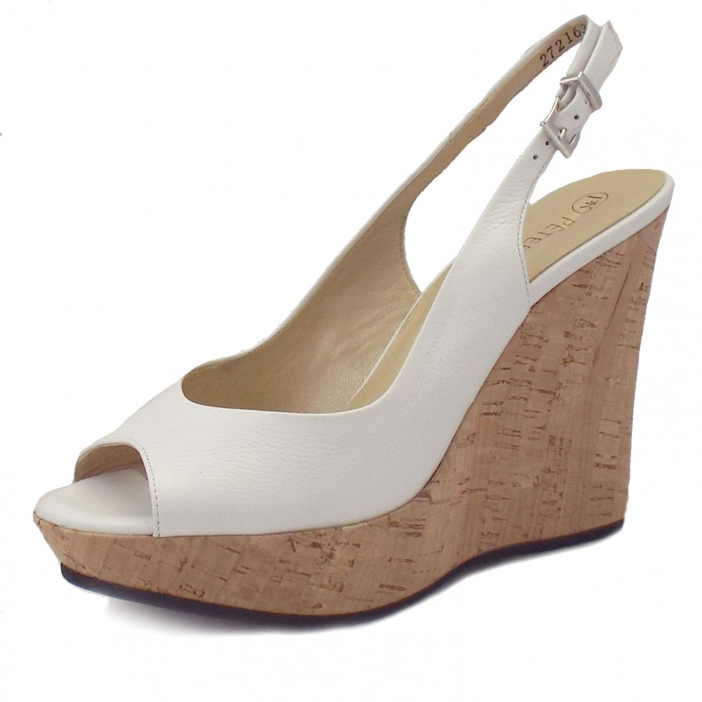 White Leather Slingback Shoes