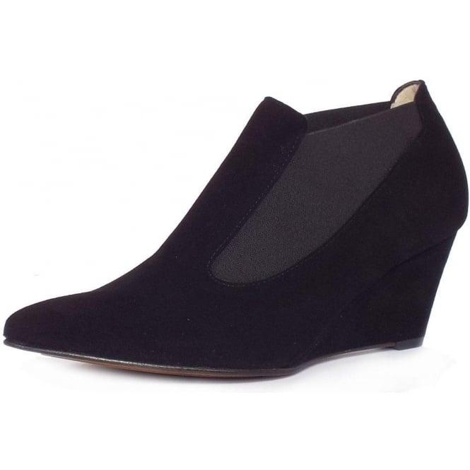 Rilana Black Suede Pointy Shoe-Boots