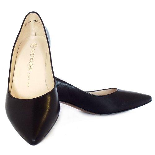 62ddc83db96 ... Rona Black Leather Pointed Toe Kitten Heel Pumps. ‹