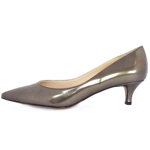 Peter Kaiser UK | Rona | Visione Lumer Metallic Leather Low Heel Pumps