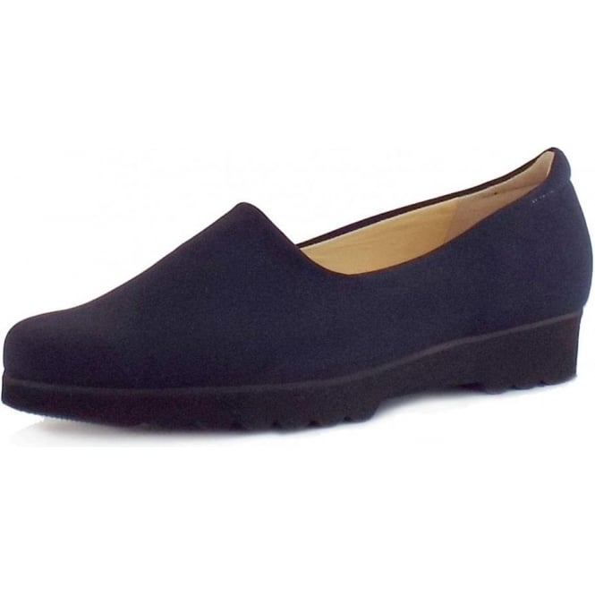Ronda Comfortable Stretch Shoe in Navy
