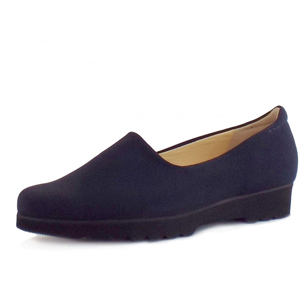 kaiser ronda comfortable wide fit shoes in navy