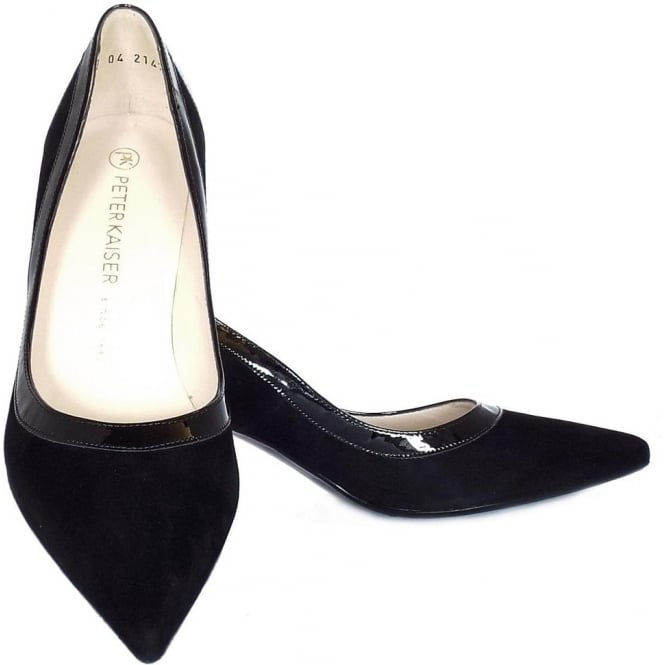 best authentic 277cd 8e536 Peter Kaiser UK | Sabia | Black Suede And Patent Pointed Toe ...