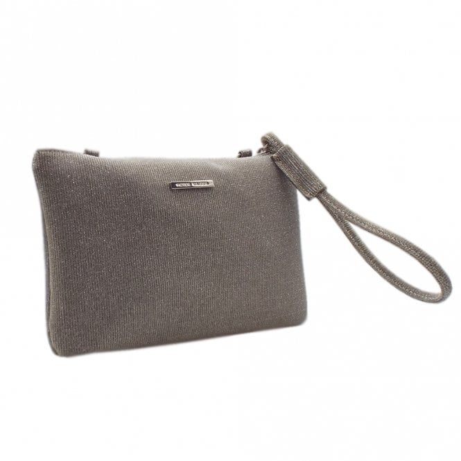 Saldina Silver Shimmer Small Clutch Bag