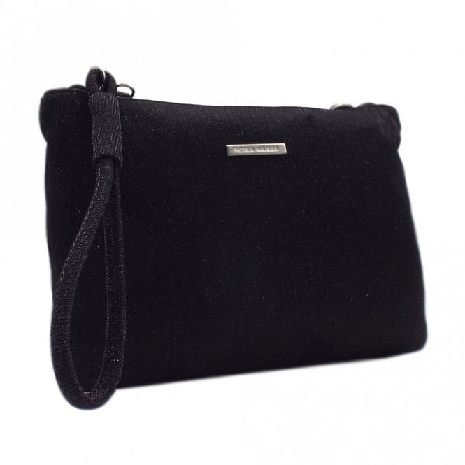 Saldina Stylish Clutch Bag in Classy Black Shimmer