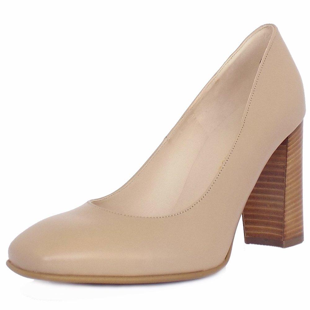 peter kaiser uk sandy sand beige leather block heel. Black Bedroom Furniture Sets. Home Design Ideas