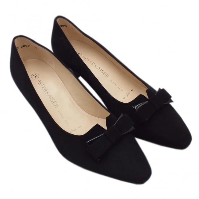 sports shoes 33c22 eac56 Peter Kaiser UK | Saris | Black Suede Full Leather Mid Heel ...