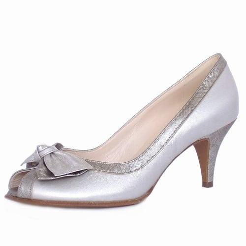 953b923b32 Satyr Multi Metallic Bow Trim Peep Toe Pumps · Satyr Women's Peep Toe  Dressy Shoes in Multi Metallic Leather ...