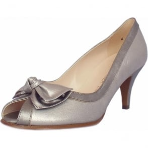 Satyr Multi Metallic Leather Peep Toe Pumps