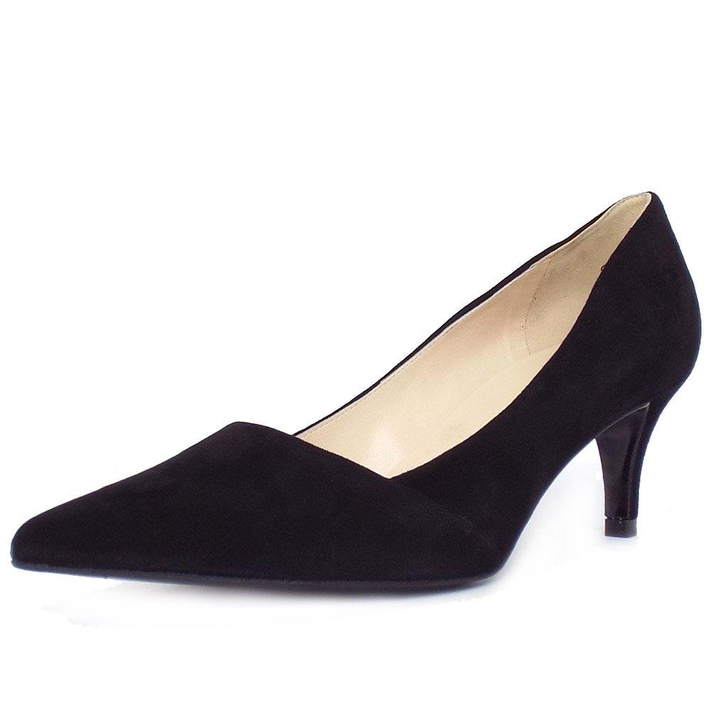 Black Suede High Heel Court Shoes