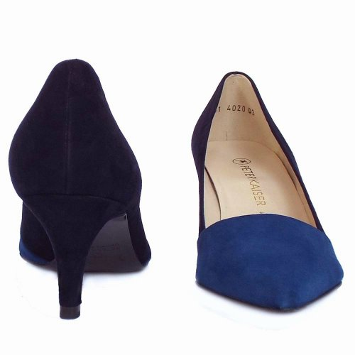 55791ddf0e1bc Peter Kaiser UK | Semitara | Mare Blue Notte Navy Suede Pointed Pumps