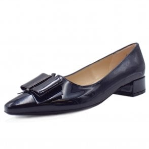 Sera Pointed Toe Low Heel Courts in Notte Mura