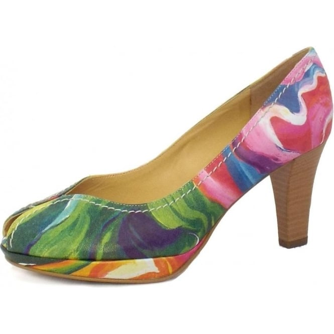 Servita Open Toe Shoes in Multi Colour