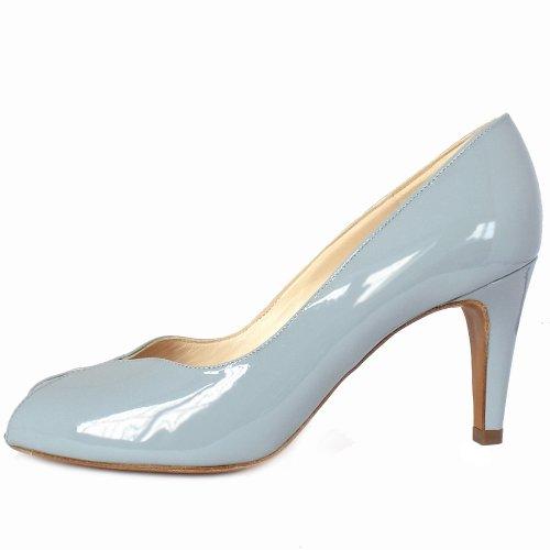 Peter Kaiser UK   Sevilla   Ladies Ice Blue Patent Peep Toe Pumps