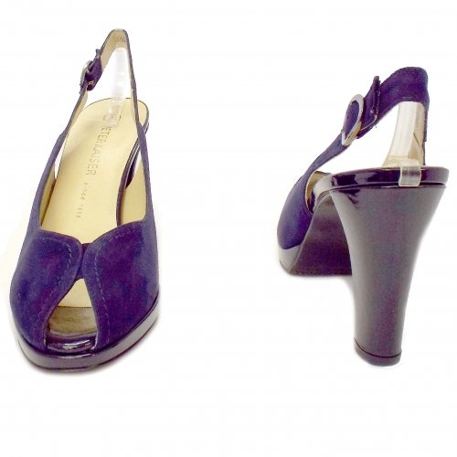 b7ea301a8c2 ... Silvy Peep Toe Shoes in Navy Suede ...