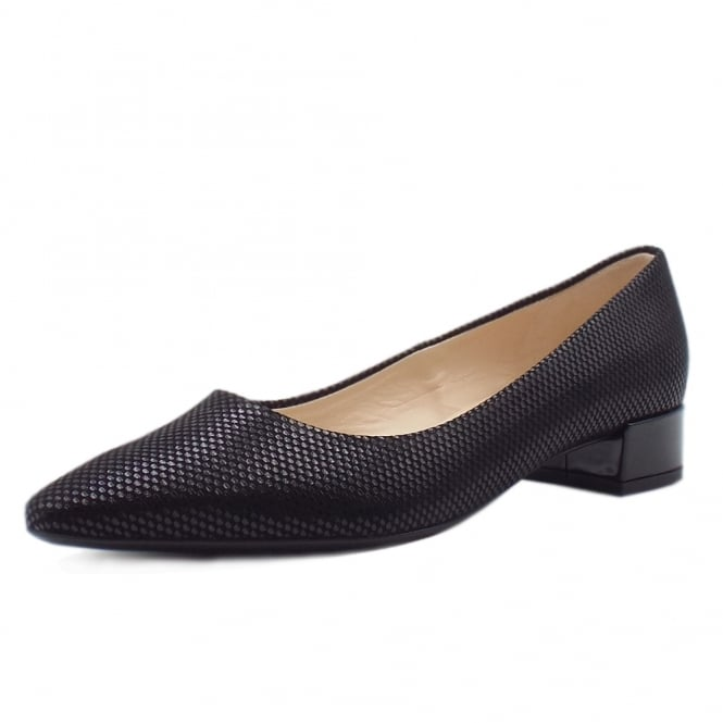 Sita Black Cube Low Heel Pumps