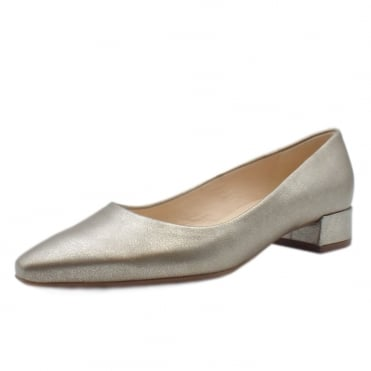 Sita Classic Low Heel Court Shoes in Taupe Furla