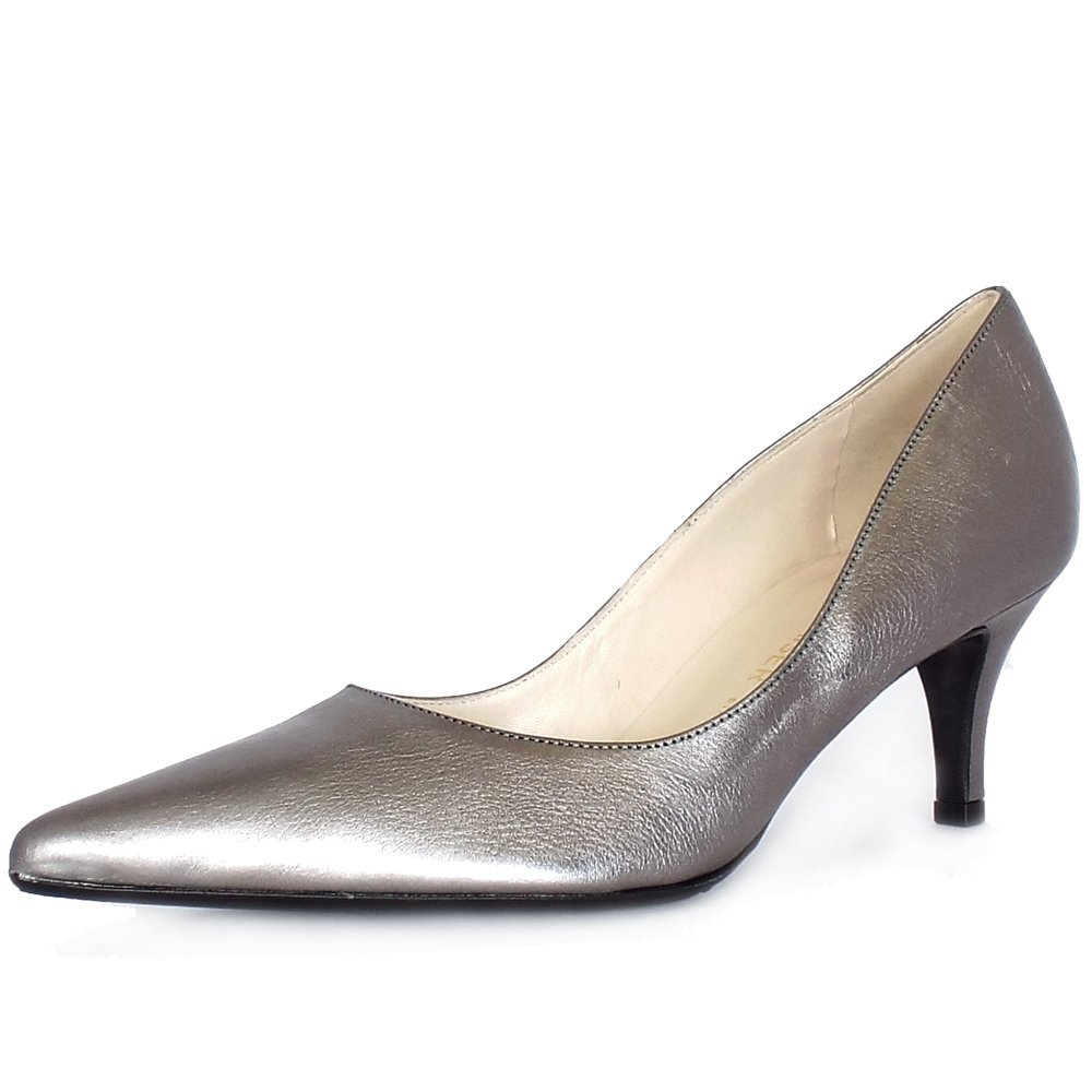 Silver Shoes For Wedding Mid Heel