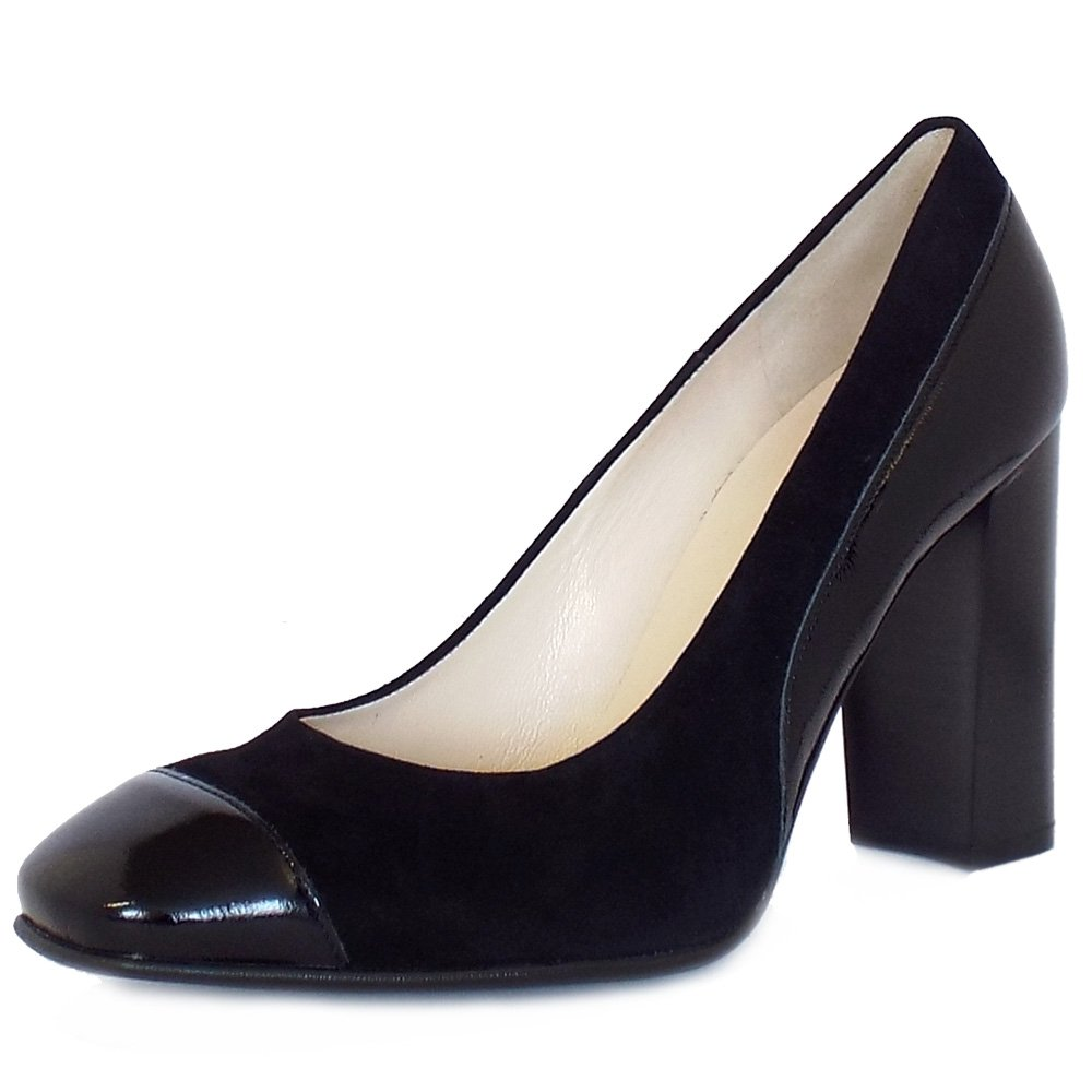 228866668f Peter Kaiser UK | Sorana | Block Heel | Modern High Heel Black Pumps