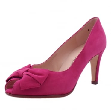 Stila Berry Suede Peep Toe Shoes
