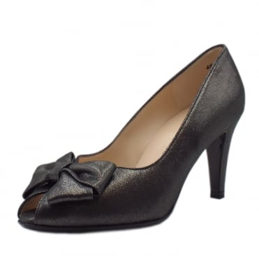 Stila Black Star Suede Peep Toe Shoes