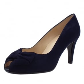 Stila Ladies Peep Toe Shoes in Notte Suede